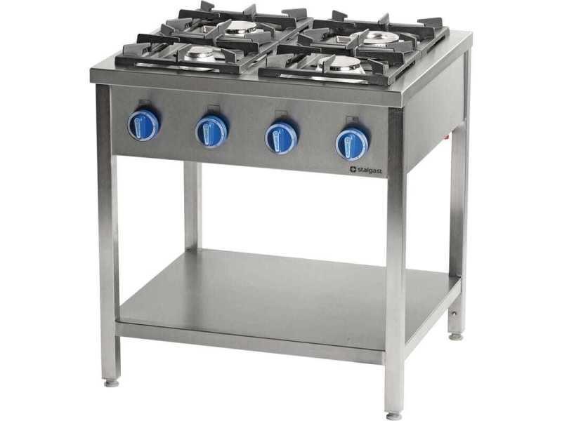 Piano de cuisson professionnel gaz sur table 4 feux - série 700 - stalgast - 22,5 kw gaz butane / propane