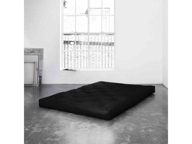 Matelas futon noir 15 cm comfort 160x200