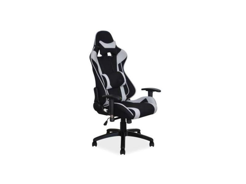 Viter - fauteuil pivotant gaming bureau - hauteur réglable 127-135 cm - 2 coussins - mécanisme tilt - chaise bureau - noir