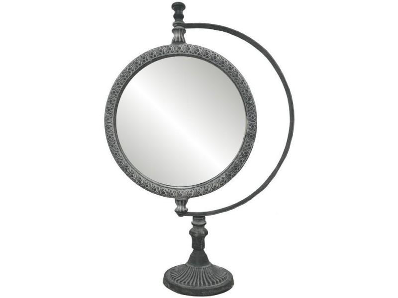 grand miroir psych poser sur pied en fonte d 39 aluminium. Black Bedroom Furniture Sets. Home Design Ideas