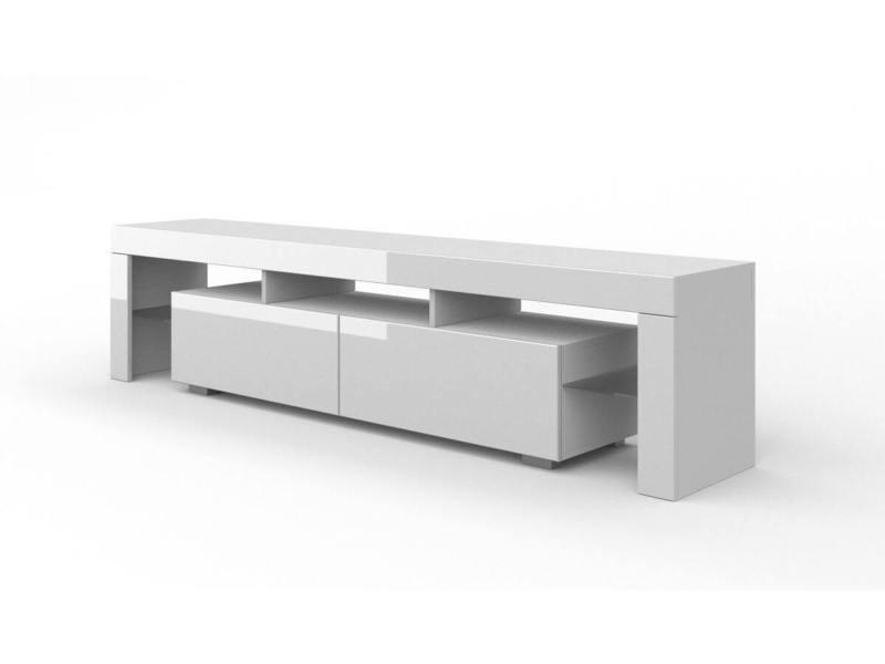 Subleem meuble tv 190 cm alabama blanc brillant