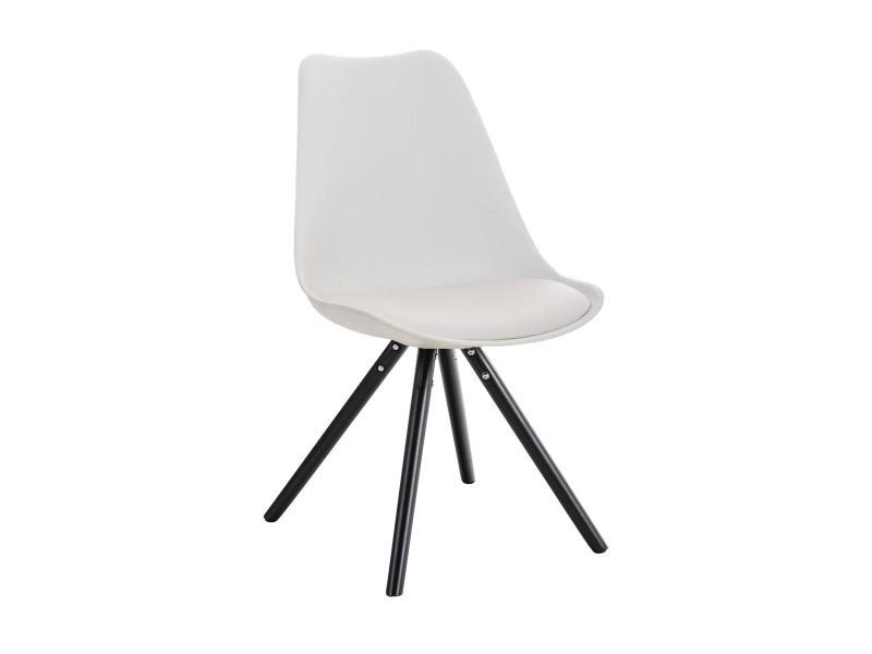 Chaise pegleg , blanc /noir
