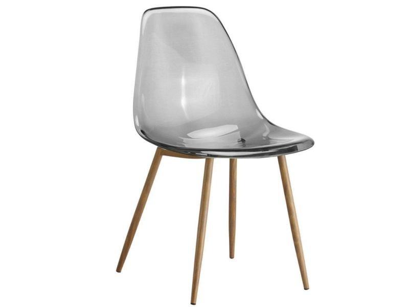 Lot De 4 Chaises Design Scandinave Osana En Polycarbonate Fum 20100875703