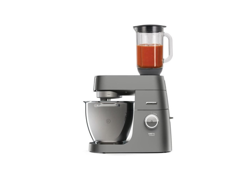 Kenwood kvl8320s - robot pâtissier - chef xl titanium - 1700 w - bol 6,7 l - mixeur 1,6 l