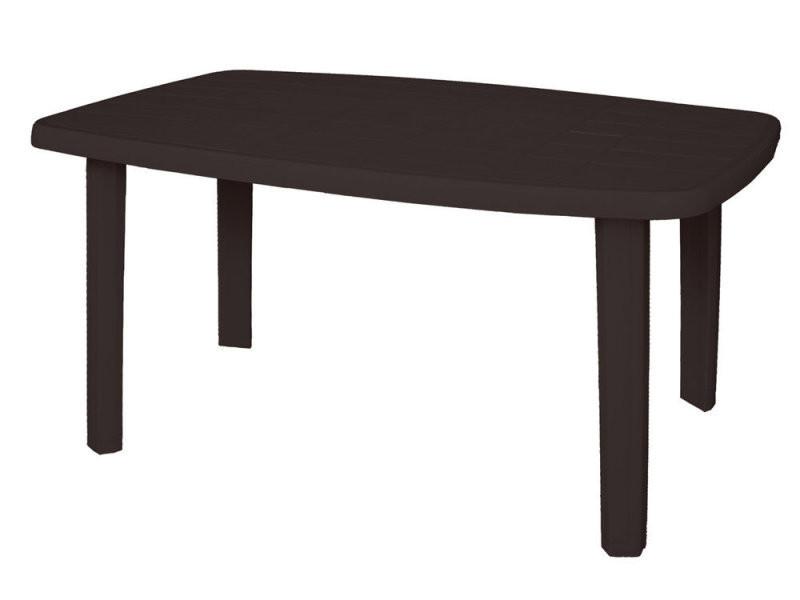 Table de jardin 140 x 80 cm en polypropylène gris sorrento - Vente ...