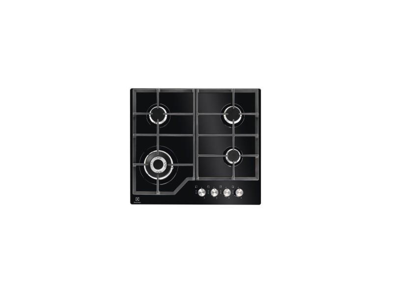 6ac6e92745466e Electrolux table de cuisson gaz - largeur (mm)  590 - dessus verre - 4  foyers - bandeau de c - Vente de Plaque de cuisson - Conforama