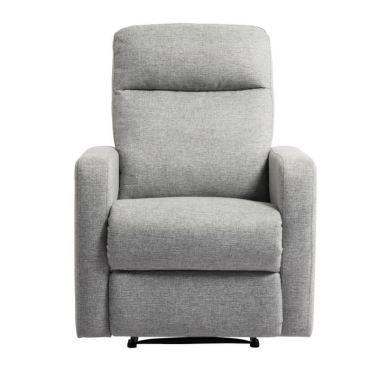 Fauteuil relax fauteuil de relaxation manuel tissu gris classique l 76 x p 88 cm F98843555