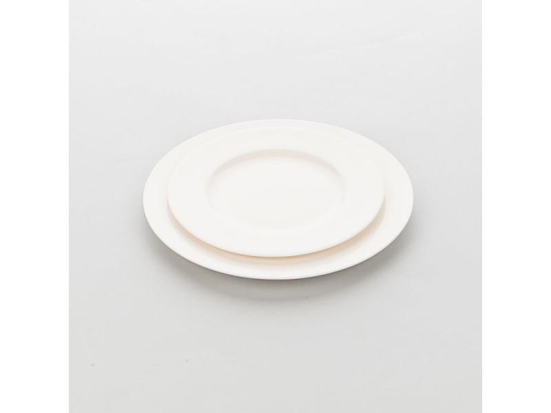 Assiette ronde porcelaine ecru liguria ø 230 à 320 mm - lot de 6 - stalgast - 23 cm porcelaine 290 (ø) mm