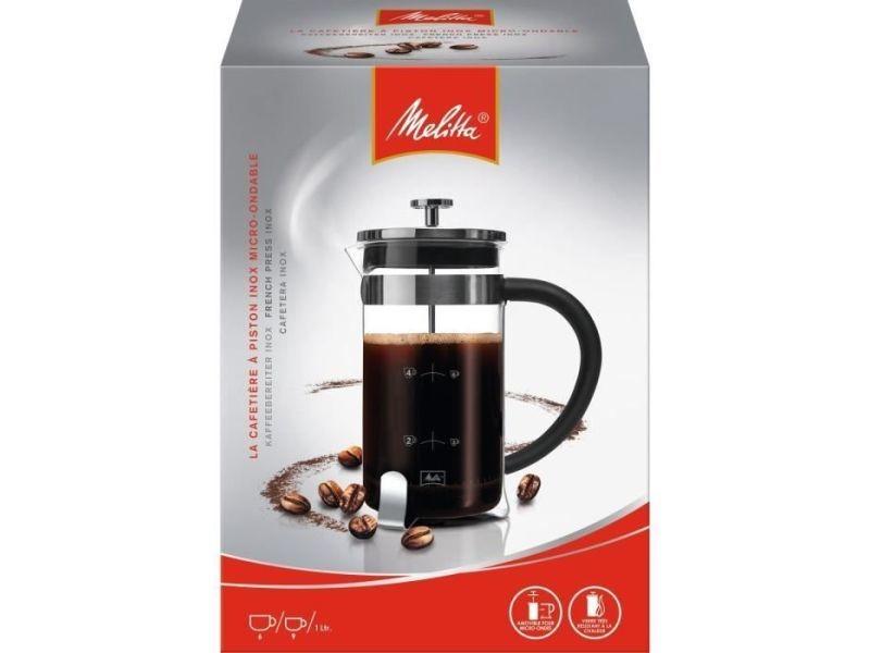 Cafetiere - theiere - chocolatiere cafetiere a piston premium en verre et inox 8 tasses