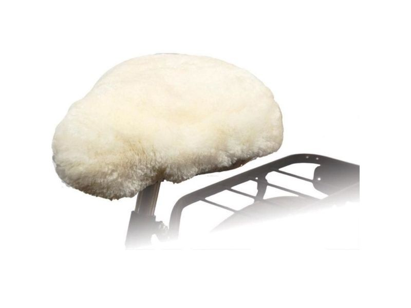 Superbe accessoires de cyclisme famille vienne willex housse de selle de vélo peau de mouton naturel 30120