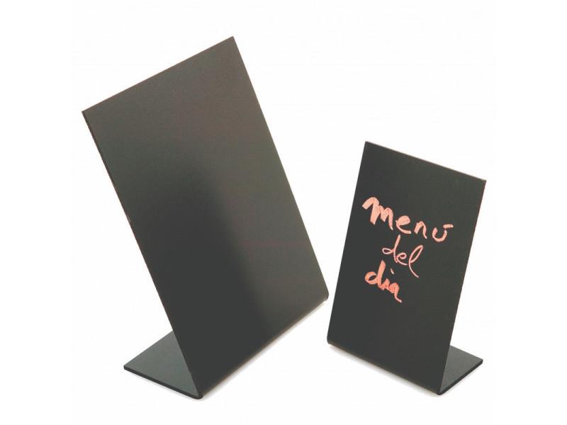 Ardoise de table noire 10 à 21 cm - pujadas - bois et plastique 21 x 31 cm