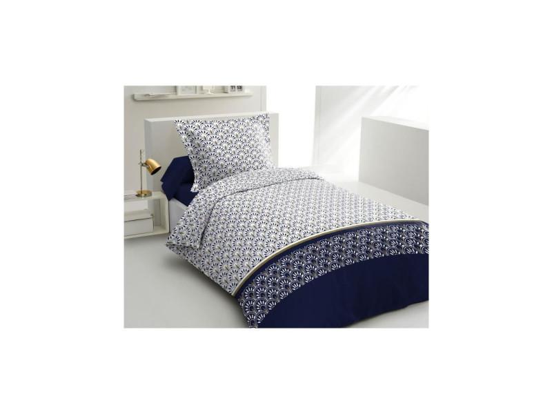 Parure de couette coton rainbow - bleu marine - 140x200 cm LOV5037632622046