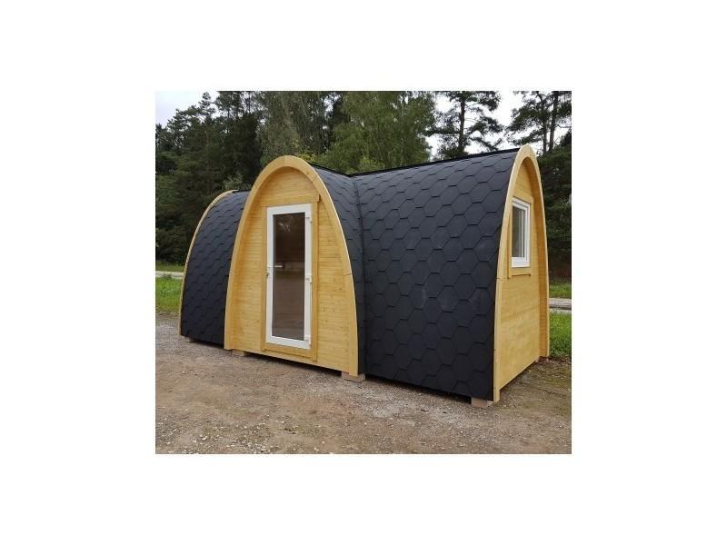 maison en bois massif igloo 13 52m avec isolation. Black Bedroom Furniture Sets. Home Design Ideas
