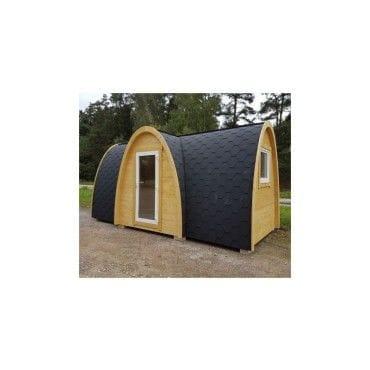 Maison en bois massif igloo 13,52m² avec isolation thermique lodge ...