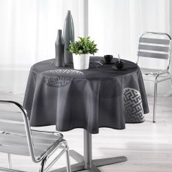 Nappe ronde polyester kosmos anthracite 180 cm