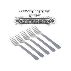 20 fourchettes prestige jetables plastique gris