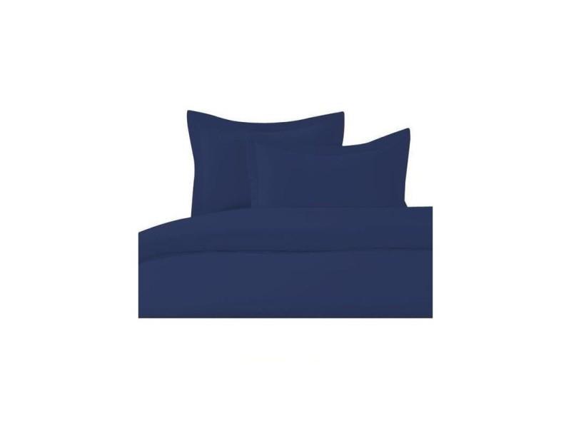 Housse de couette 140x200cm - bleu marine