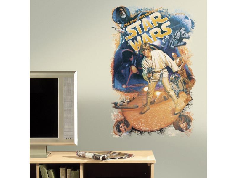 Stickers géant star wars trilogie