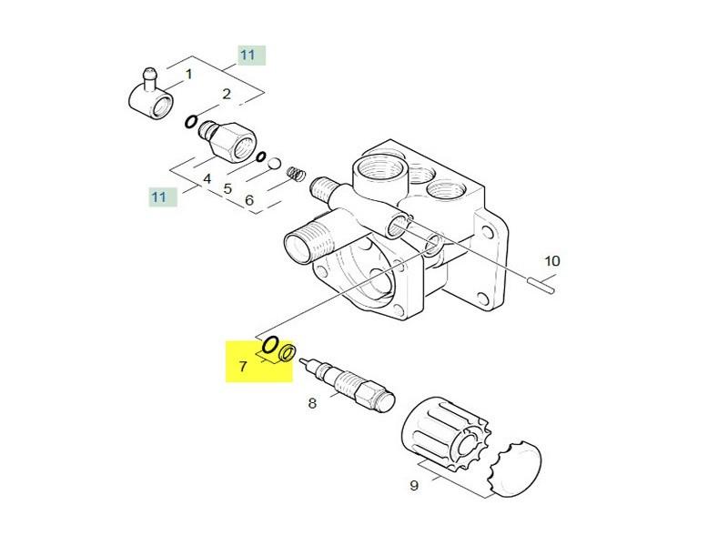 Bague d etancheite complete 1st.-r.-7.6 pour nettoyeur haute-pression karcher - 63623650