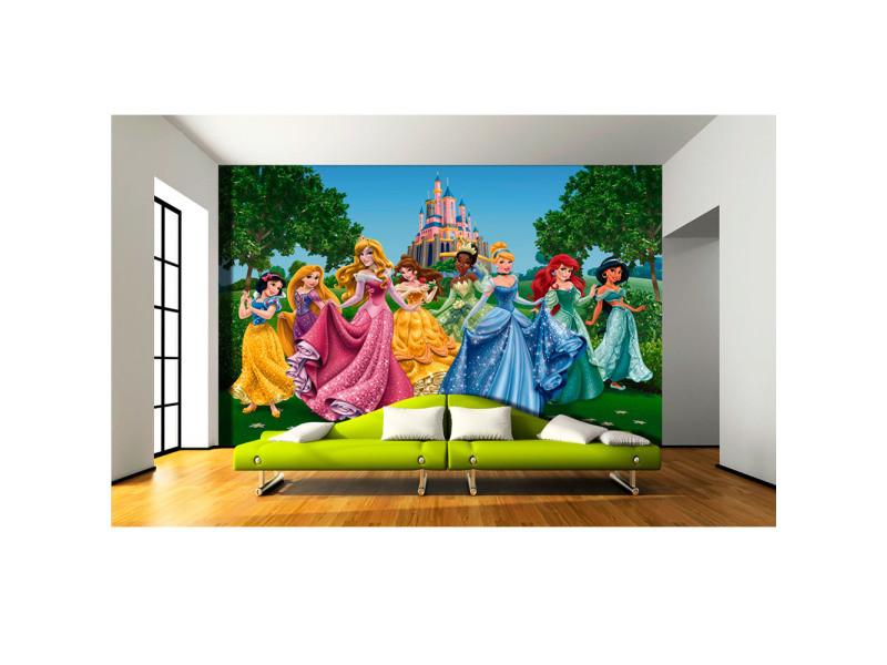 Papier Peint Chateau Et Princesses Disney 360x255 Cm Vente De