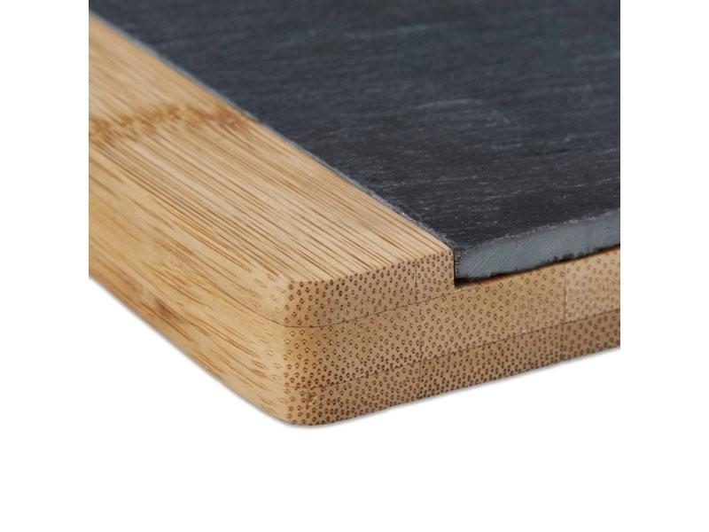 Planche à découper présentation en bambou + ardoise amovible ...