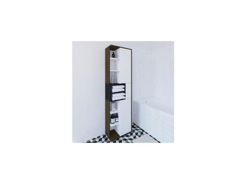 Colonne De Salle De Bain Design L50cm Kube Noyer