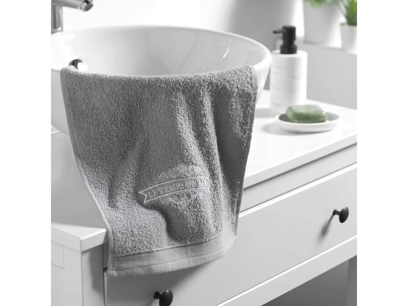 1001KDO POUR LA MAISON Serviette de Toilette Invite 30 x 50 cm Colors Anthracite