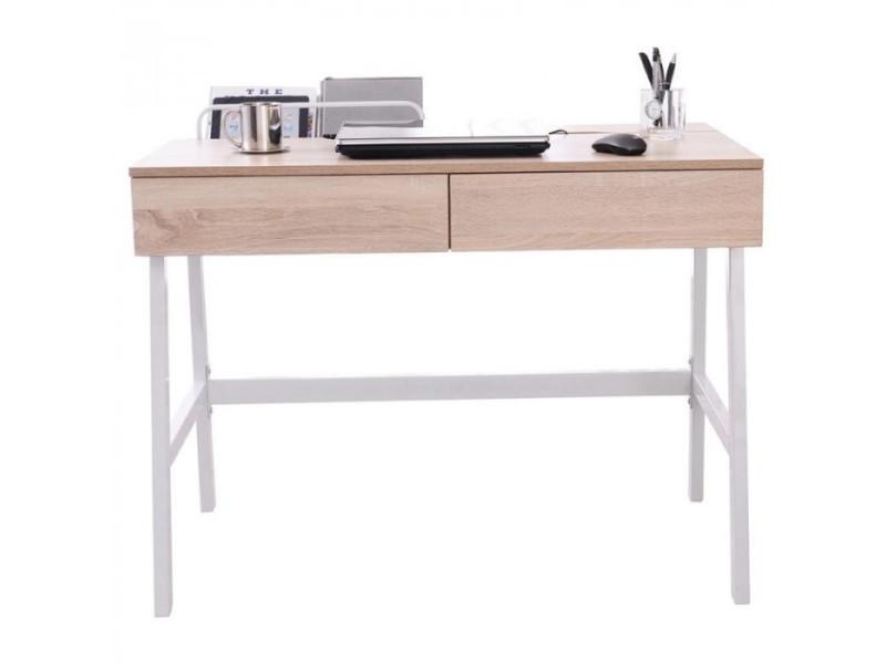 Bureau informatique domi aspect bois de chêne vente de bureau