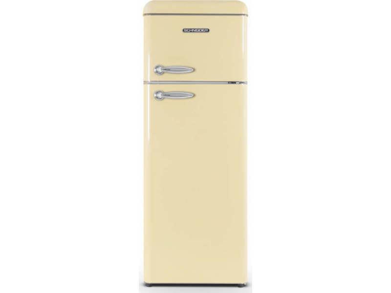 Réfrigérateur 2 portes schneider, scdd208vcr