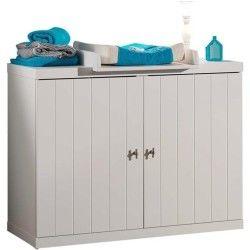 Vipack commode 3 tiroirs 2 portes robin