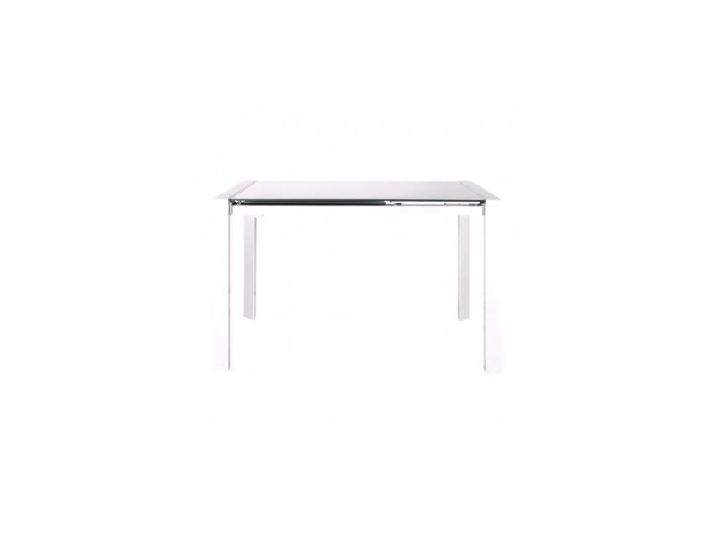 Table à rallonge laquée blanche edge 122-182 cm