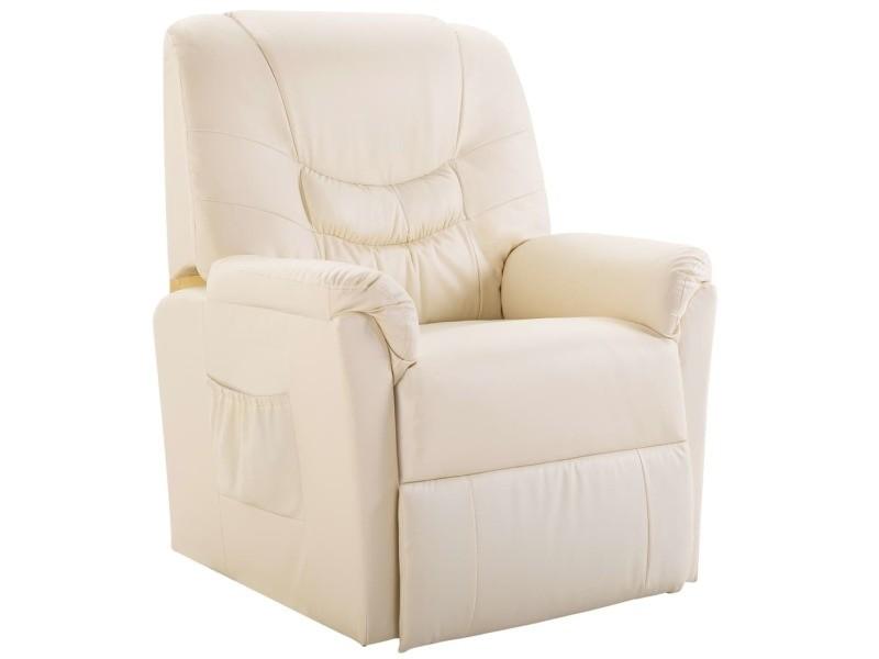 Icaverne fauteuils selection chaise inclinable crème