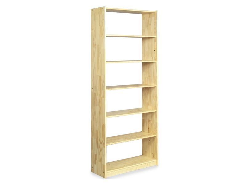 etag re en pin vernis naturel 7 tablettes vente de idimex conforama. Black Bedroom Furniture Sets. Home Design Ideas