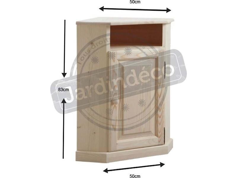 petit meuble d 39 angle en bois brut vente de aubry gaspard conforama. Black Bedroom Furniture Sets. Home Design Ideas