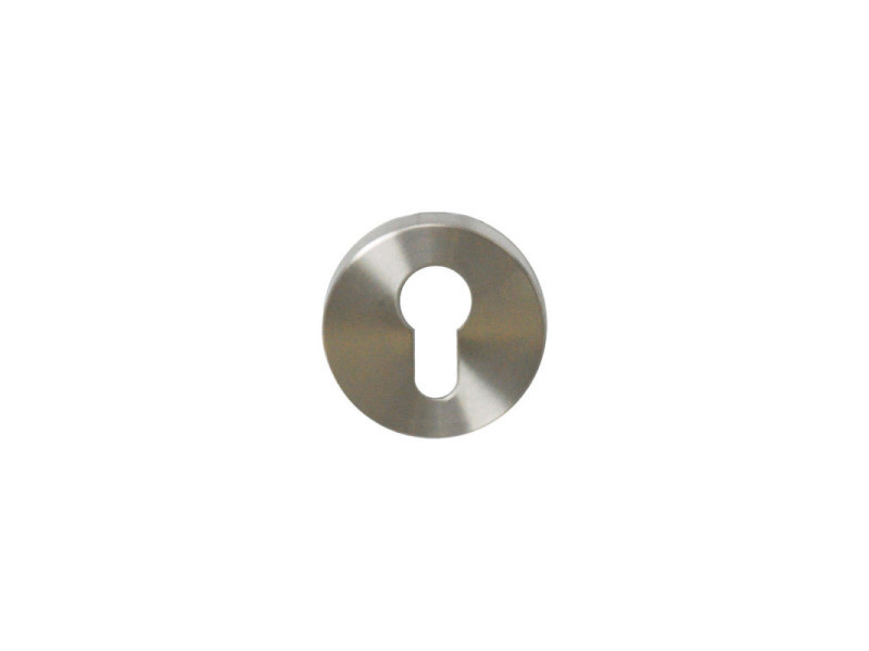 Rosaces rondes à cylindre - inox 304 brossé mat x2 IN120