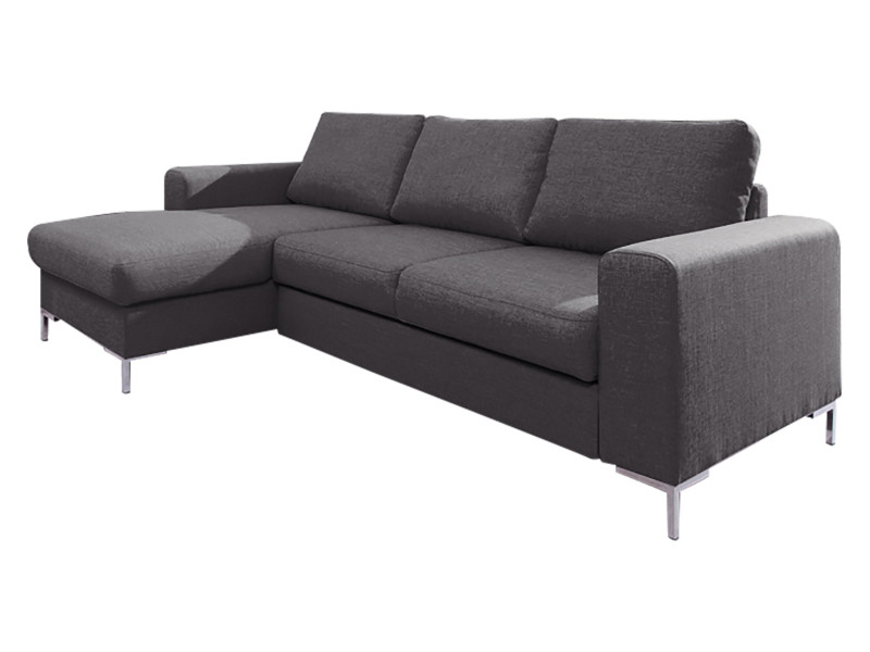 Canapé lilly angle gauche fixe gris anthracite 5906395167975