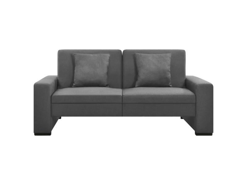 Vidaxl canapé-lit gris clair tissu 323612