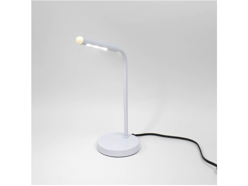 Lampe de bureau led blanc lumière blanche rotative métal