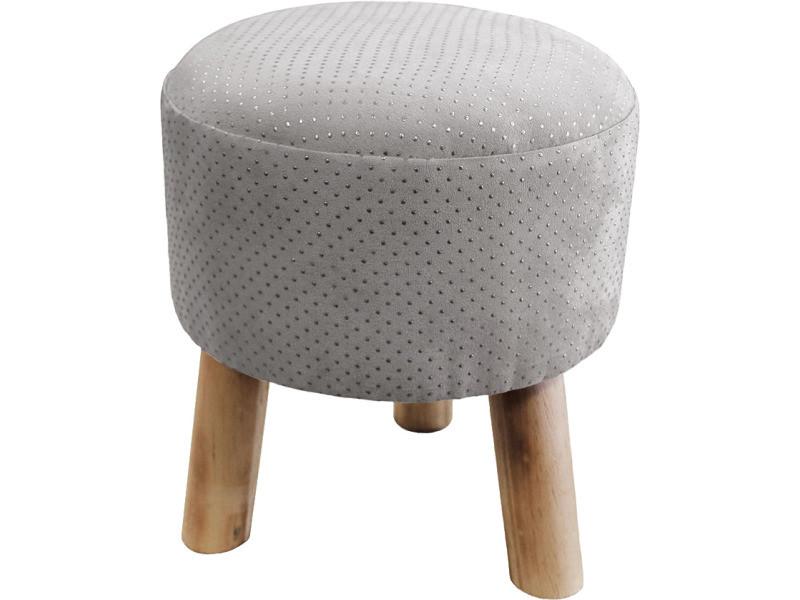 tabouret marquise gris argent vente de ligne d cor conforama. Black Bedroom Furniture Sets. Home Design Ideas