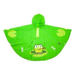 Poncho grenouille vert pour enfant 3 à 6 ans