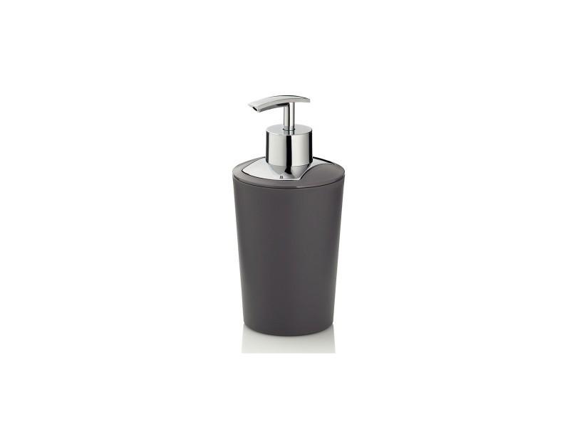 Distributeur de savon gris et argenté marta