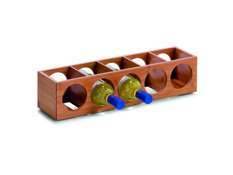 Casier à vin en bambou, 13,5 x 12,5 x 53 cm