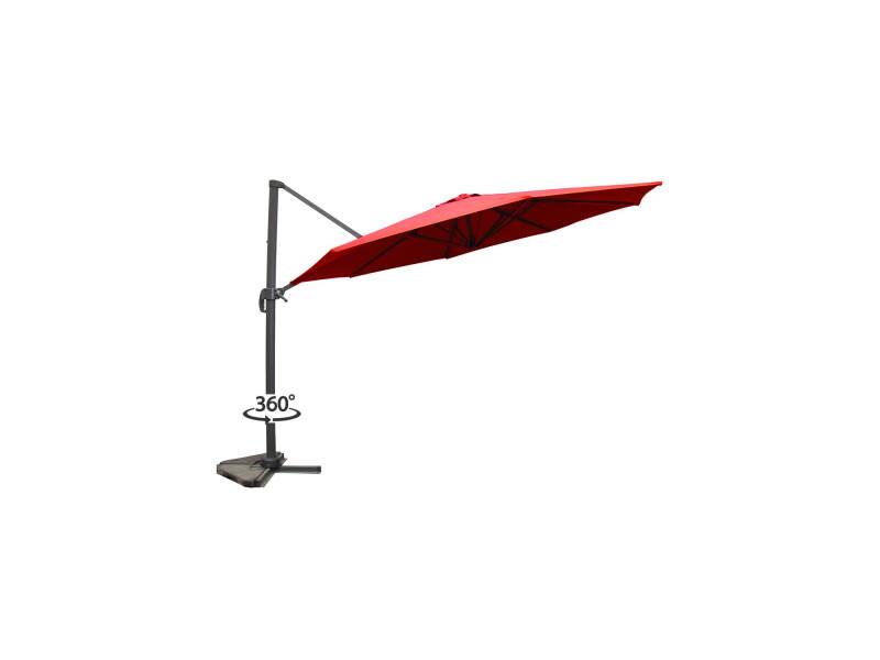 Vivaro terracotta : parasol déporté, rond ø 350cm, rotatif à 360° 1318