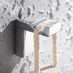 Crochet moderne de salle de bain en laiton chromé