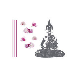 Sticker zen croquis - 50 x 70 cm - bouddha
