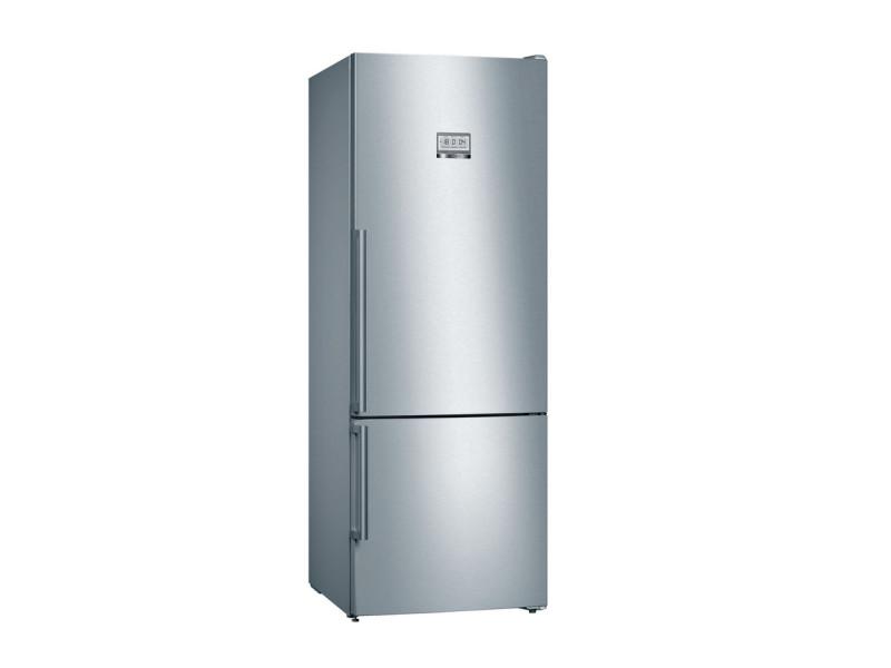 Kgf56pidp réfrigérateur combiné - 480 l (375 l + 105 l)- nofrost multiairflow - a+++ - hxlxp 193 x 70 x 80 cm - inox BOS4242005159925
