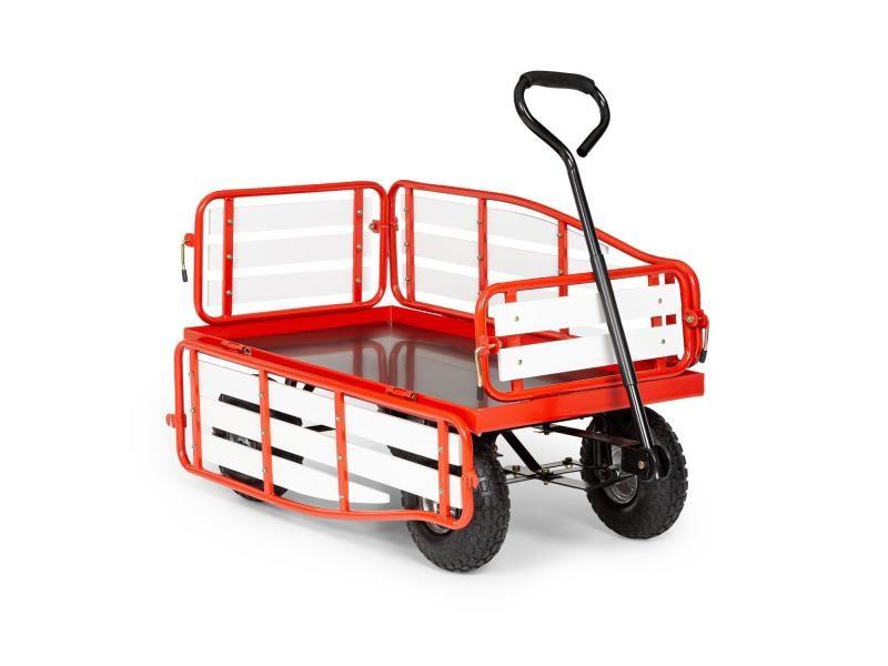 Waldbeck ventura chariot à main / charrette de transport - charge 300 kg max. - rouge