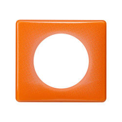 Legrand - celiane plaque orange 1 poste 70's