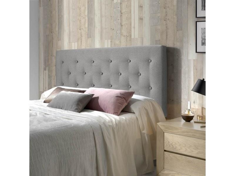t te de lit capitonn e scandinave oslo gris 140x100 t00061. Black Bedroom Furniture Sets. Home Design Ideas