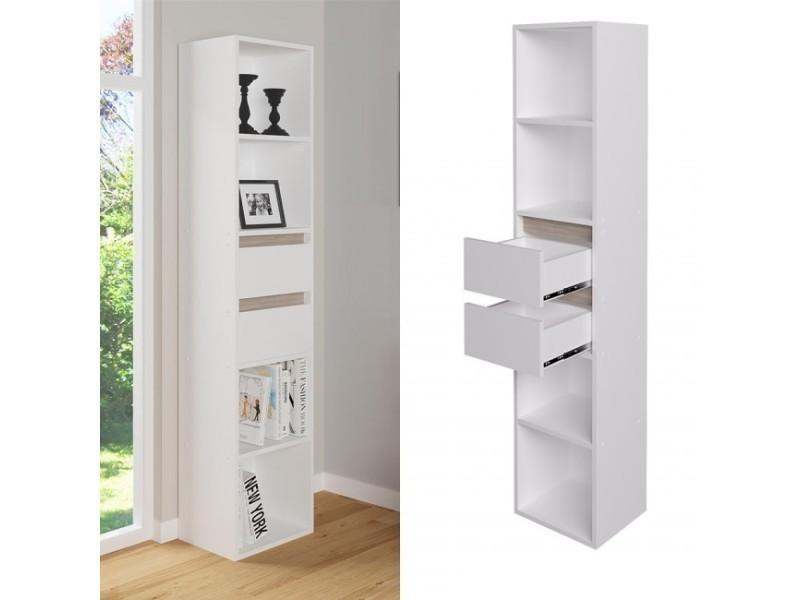Colonne étagère 171 cm blanche - Vente de Bibliothèque - Conforama